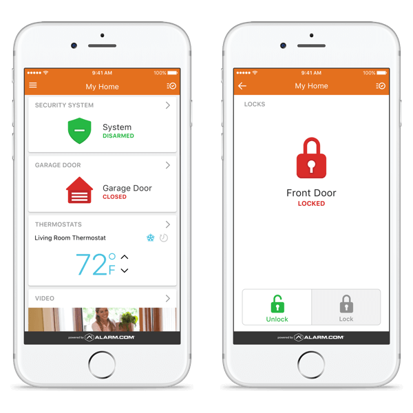 Home security mobile apps