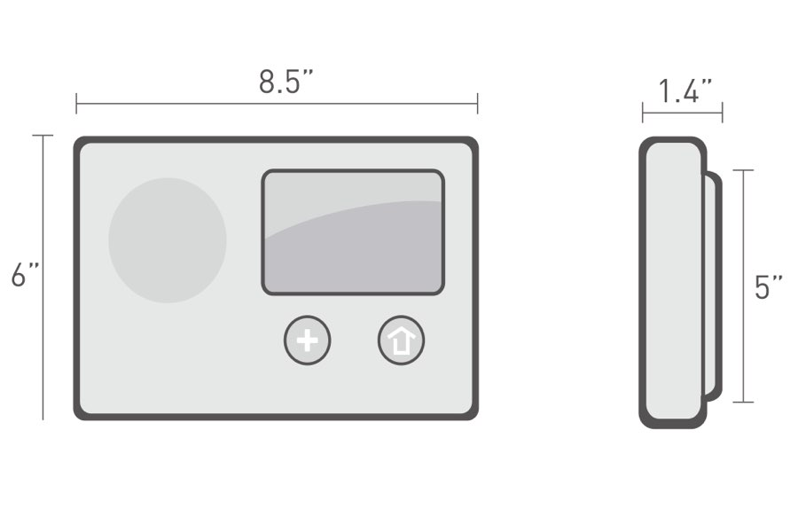 2GIG Control Panel Dimensions